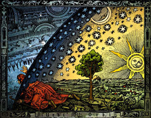 Camille Flammarion man crossing worlds boundaries