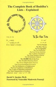 The Complete Book of Buddhas Lists - Explained