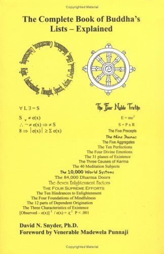 The Complete Book of Buddhas Lists – Explained by Dr. David Snyder