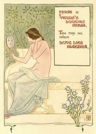 A floral fantasy in an old English garden by Walter Crane